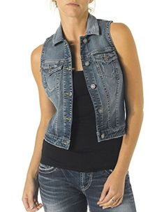 Silver Denim Vest * Learn more by visiting the image link.