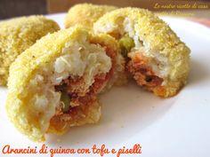 Arancini di quinoa con tofu e piselli #vegan