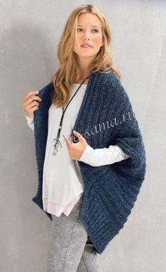 Жилет спицами с шалевым воротником, фото Crochet Cardigan, Knitted Shawls, Knit Crochet, Knitwear Fashion, Sweater Fashion, Easy Knitting, Knitting Designs, Handmade Clothes, Knit Patterns