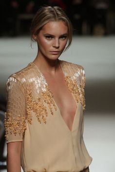 Juju Ivanyuk wearing Georges Hobeika from the Haute Couture SS 2012 collection.