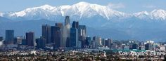 Los Angeles backdropped by San Bernardino mountains