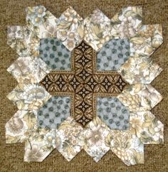 Lucy Boston Block 4 by Muriel for POTC Blog Along at Little Quilts
