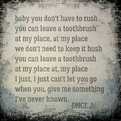 DNCE  Toothbrush lyrics