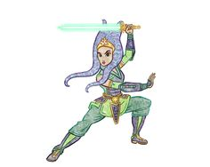 Mulan has a lot in common with Ahsoka Tano. | I Drew Disney Princesses Living In The Star Wars Universe