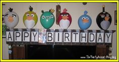 How to make Angry Bird Balloons for your child's birthday party! Quick and easy to make and they'll surl ylove them!