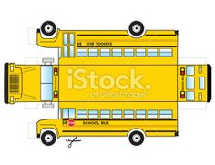 School Bus Cut Out Royalty Free Stock Vector Art Illustration