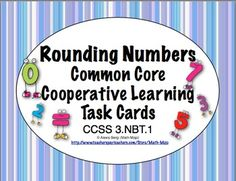 Your students will love rounding numbers with this set of 24 self checking task cards. The set includes - * 24 Self checking task cards that are . 3rd Grade Classroom, Third Grade Math, Math Classroom, Classroom Ideas, Math Teacher, Teaching Math, Teacher Tips, Maths, Teaching Ideas