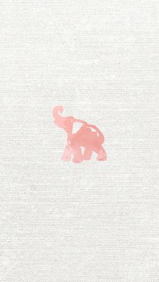 Coral Watercolor Elephant iPhone 6s wallpaper