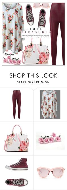 """""""Rosegal"""" by teoecar ❤ liked on Polyvore featuring Converse and Karen Walker"""