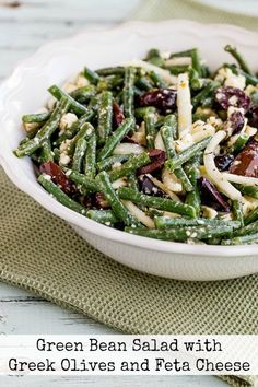 I absolutely LOVE this Green Bean Salad with Greek Olives and Feta Cheese, so I…