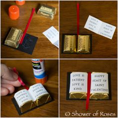 Shower of Roses: Bible Candy Valentines {Tutorial & Free Printable} Cute DIY Edible Favour Idea for Baptism. Feast Of Love, Pioneer Gifts, Pioneer School Gifts Jw, Jw Gifts, Candy Crafts, Church Crafts, Sunday School Crafts, First Holy Communion, First Communion Party