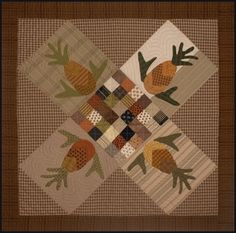 """Norma is quite amazing. She never stops. I am so glad to have her as a partner. This is a table topper called """" Hospitality """". Small Quilts, Easy Quilts, Mini Quilts, Quilting Tutorials, Quilting Projects, Sewing Projects, Applique Quilts, Wool Applique, Skinny Quilts"""