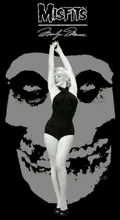 """In 1977 a group of pioneering punks fascinated by Marilyn Monroe started a band. In homage to her final role they named themselves """"The Misfits"""" further immortalizing her legacy and beginning one of their own. The Misfits, Misfits Band, Danzig Misfits, New Wave Music, Music Love, Music Is Life, Misfits Wallpaper, Hybrid Moments, Glenn Danzig"""