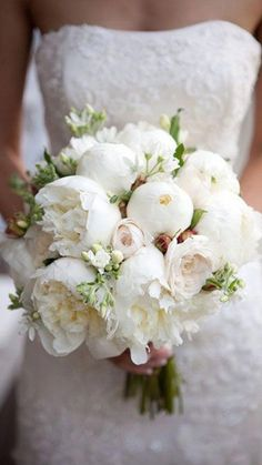 Wedding bouquet is an important part of the bridal look. Looking for wedding bouquet ideas? Check the post for bridal bouquet photos! Peony Bouquet Wedding, White Wedding Bouquets, Bride Bouquets, Bridal Flowers, Bouquet Flowers, Cascading Bouquets, Purple Bouquets, Bridesmaid Bouquets, Bridesmaids