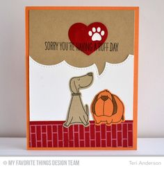 Stitched Speech Bubble Edges Die-namics, Pet Accents Die-namics, You Make My Tail Wag Die-namics, Small Brick Background, You Make My Tail Wag Stamp Set - Teri Anderson  #mftstamps