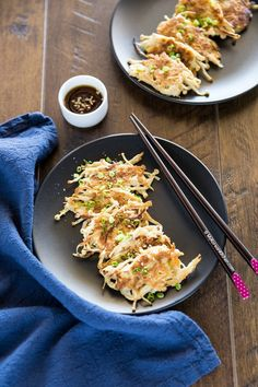 Korean enoki mushroom pancakes - An easy Korean side dish recipe   MyKoreanKitchen.com