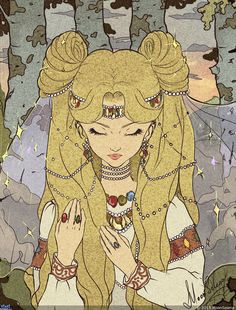 プリンセス・セレニティ (うさぎ) Princess Serenity (Usagi) by MoonSelena - Sailor Moon fanart Arte Sailor Moon, Sailor Moon Fan Art, Sailor Moons, Sailor Jupiter, Illustrations, Illustration Art, Bd Art, Sailor Moon Kristall, Kunstjournal Inspiration