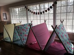 Birthday party tents for sleep over any little girl would love it :)