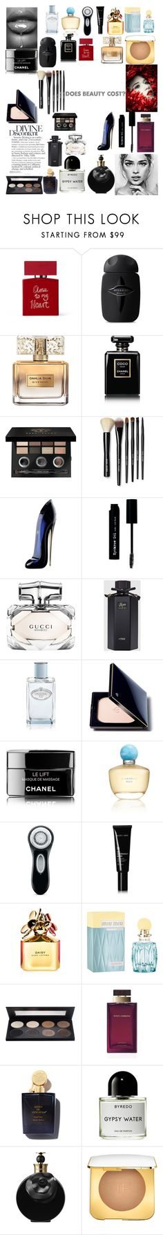 """""""Untitled #809"""" by rachelformsbeauty ❤ liked on Polyvore featuring beauty, Bella Freud, Givenchy, Chanel, Bobbi Brown Cosmetics, Carolina Herrera, The BrowGal, Gucci, Prada and Clé de Peau Beauté"""