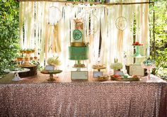 Pastel Dream Catcher themed birthday party via Kara's Party Ideas KarasPartyIdeas.com Printables, cake, invitation, decor, cupcakes, recipes, supplies, etc! #dreamcatcherparty #dreamcatcher #karaspartyideas (3)