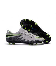 Nike Hypervenom Phinish Neymar Muži Kopačky FG PEVNÝ POVRCH Šedá Černá Zelená Neymar, Nike Cleats, Soccer Cleats, Nike Football Boots, Cheap Nike, Black, Gloves, Adidas, Football Boots
