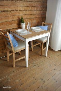 Ikea LERHAMN обеденный стол и два стула (объявление 4924833)