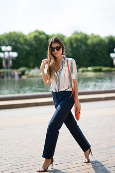 Tommy Hilfiger, SILK STRIPE BLOUSE, tommy hilfiger cropped pants, tommy hilfiger ankle strap sandal, Pam Hetlinger, The Girl From Panama