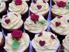 Ruby Anniversary Cupcakes  http://www.cakescrazy.co.uk/details/ruby-wedding-anniversary-cupcakes-9855.html
