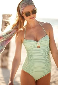 a Cute and modest one piece for the beach :)