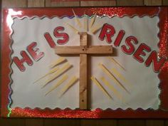 "Image detail for -He Is Risen"" bulletin board"