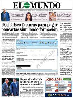 Los Titulares y Portadas de Noticias Destacadas Españolas del 10 de Agosto de 2013 del Diario El Mundo ¿Que le pareció esta Portada de este Diario Español?