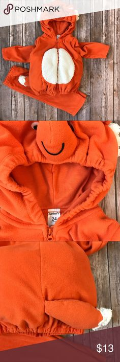 Carteru0027s Fox Costume- Zip up Hoodie with Pants & BNWT Cute fox costume / onesie Help your little one transform into a ...