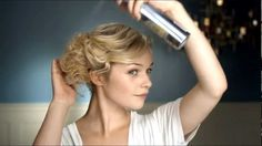 Learn how to get the fluffy updo look! Enjoy our video tutorial! #nivea #hair #style #updo
