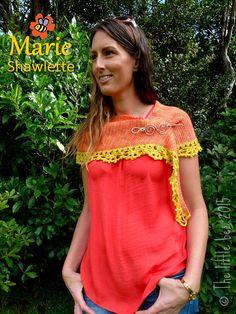 The Marie Shawlette - crochet pattern coming soon!