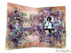 My art journal spread for Scraps Of Elegance. #SOE #artjournal #mixedmedia…