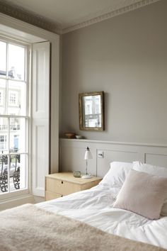 little greene – christina wilson sweet nothings Calming Bedroom Colors, Serene Bedroom, Modern Master Bedroom, Calm Bedroom, Country Bedroom Design, French Country Bedrooms, Romantic Hotel Rooms, Scandi Bedroom, Home Interior