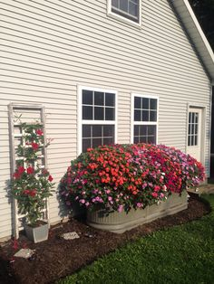 Every beautiful cottage garden has common principles that make them a success. Learn about the fundamentals you need to create your very own cottage garden. Garden Yard Ideas, Garden Beds, Lawn And Garden, Garden Troughs, Pot Jardin, Diy Planters, Trough Planters, Planter Ideas, Galvanized Planters
