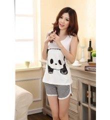 Pijama Feminino Panda Animal Print