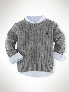 Classic Cable Crewneck - Sweaters  Infant Boy (9M-24M) - RalphLauren.com