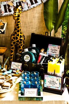 "Disney World's ""Jungle Safari Adventure"" Ride Inspired Party with Lots of Really Cute Ideas via Kara's Party Ideas 
