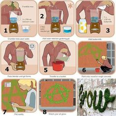 """Mossenger"" - Green Graffiti: How to made a logo, a sign or a scritta green - Babirussa.it from www.annagarforth.co.uk"