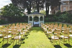 Outdoor garden wedding ceremony styling #gazebo | The Mansion House, Bristol | www.theplanninglounge.co.uk | Image courtesy of http://www.lifeinfocusphotography.co.uk/ Wedding Ceremony, Wedding Venues, Victorian Buildings, Bristol, Mansions Homes, Outdoor Gardens, Gazebo, Garden Wedding, Image
