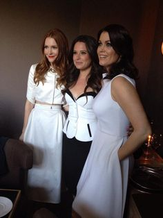 """@Darby Casey Stanchfield: """"@BellamyYoung: I love these women so much it's bananas.  @Darby Casey Stanchfield @KatieQLowes  #ScandalWHCD  :-))) """"LUV U 2!!"""