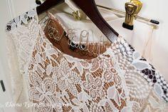 Love these hangers! #weddinghanger #lace #sayyestothedress #wedding #weddingphotography #lastname #white