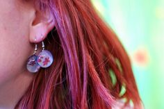 Glass cabochons earrings at IMWe 2014