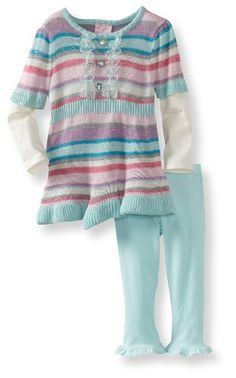 Nannette Baby-Girls Infant 2 Piece Stripes Sweater Set - List price: $42.00 Price: $8.15 + Free Shipping