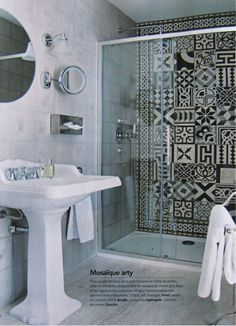 douche galets salles de bains pinterest. Black Bedroom Furniture Sets. Home Design Ideas