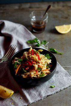 Asian chicken cabbage salad