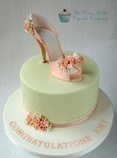 Beautiful peach shoe cake