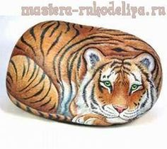 VIDEO TUTORIAL - Painting a tiger on a rock